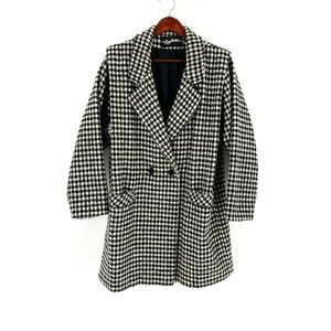 vintage | Applause Black & White Houndstooth Coat